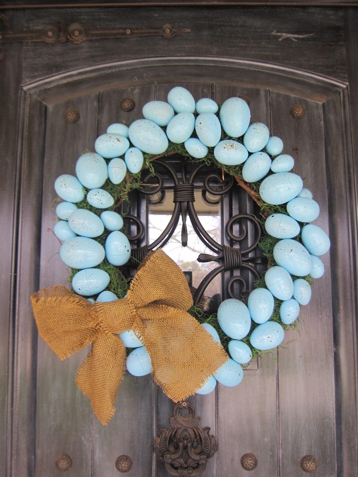 Blue Ribbon Wreath
