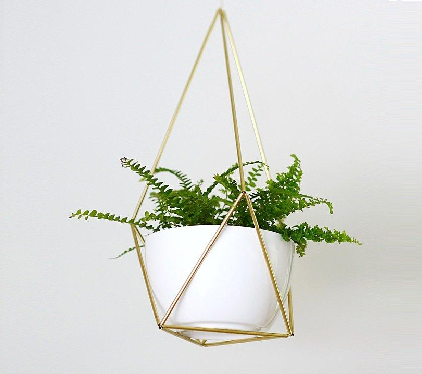 Brass Himmeli Hanging Planter