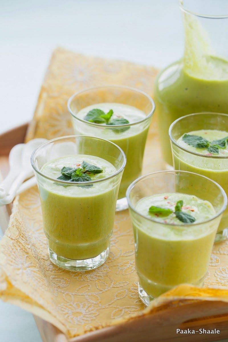 Chilled avocado mint soup