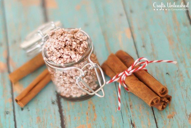 Cinnamon Sugar Homemade Foot Scrub
