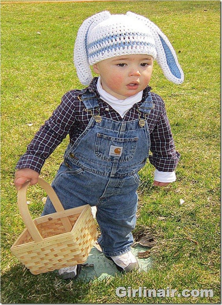 Crochet a Bunny Hat for Easter