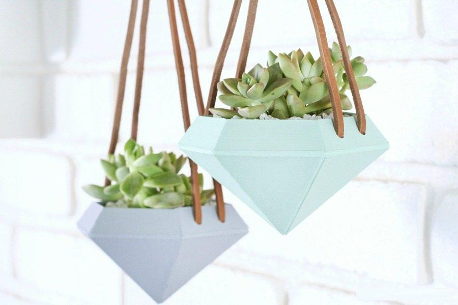 Diamond Hanging Planters