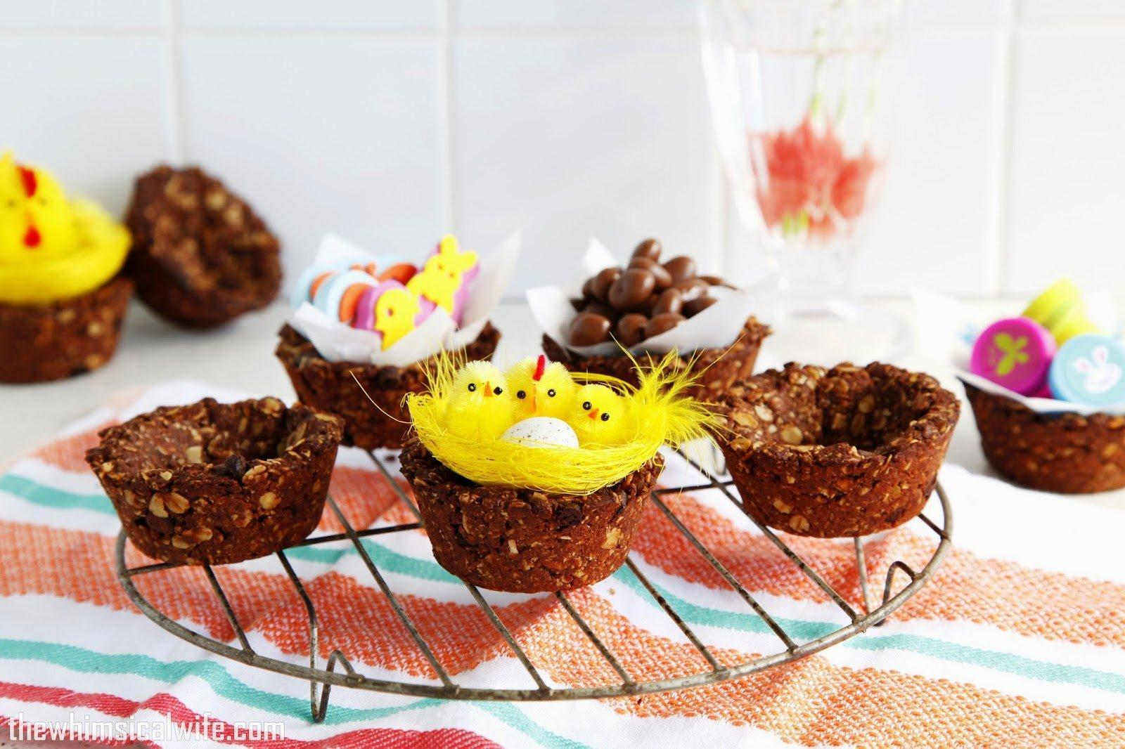 EDIBLE DOUBLE CHOC CHIP & OAT EASTER BASKETS