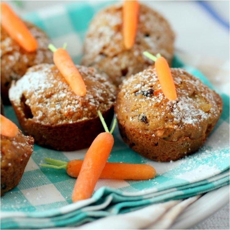 Easter Brunch Carrot Cake Muffins