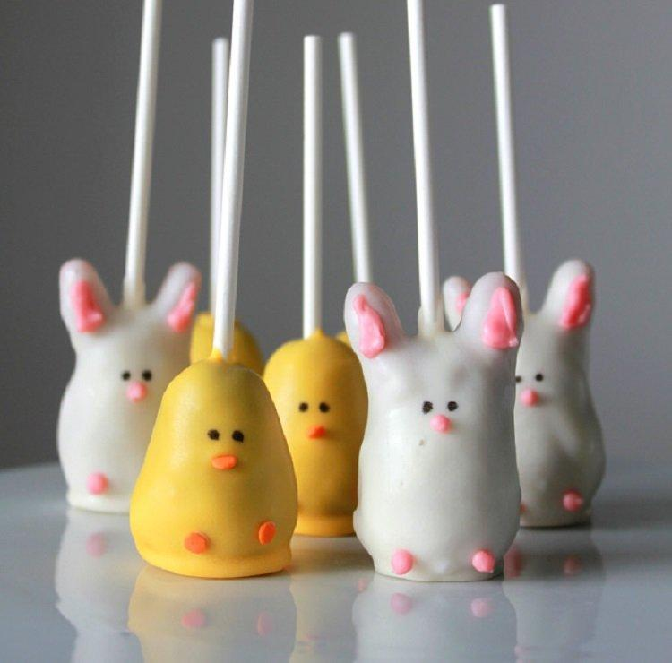 Easter Bunny and Chick Cake Pop