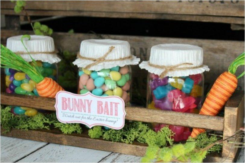 Easter Mason Jars and Free Easter Printable
