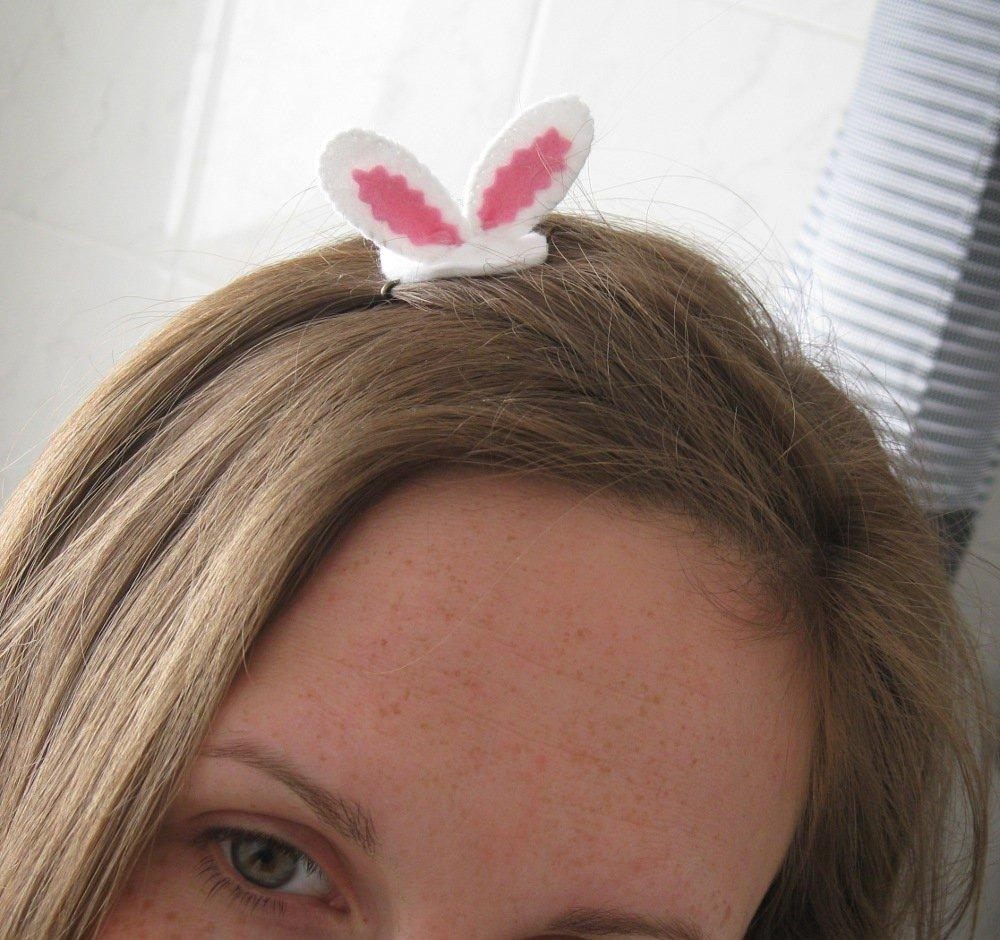Easter bunny ears hair grip