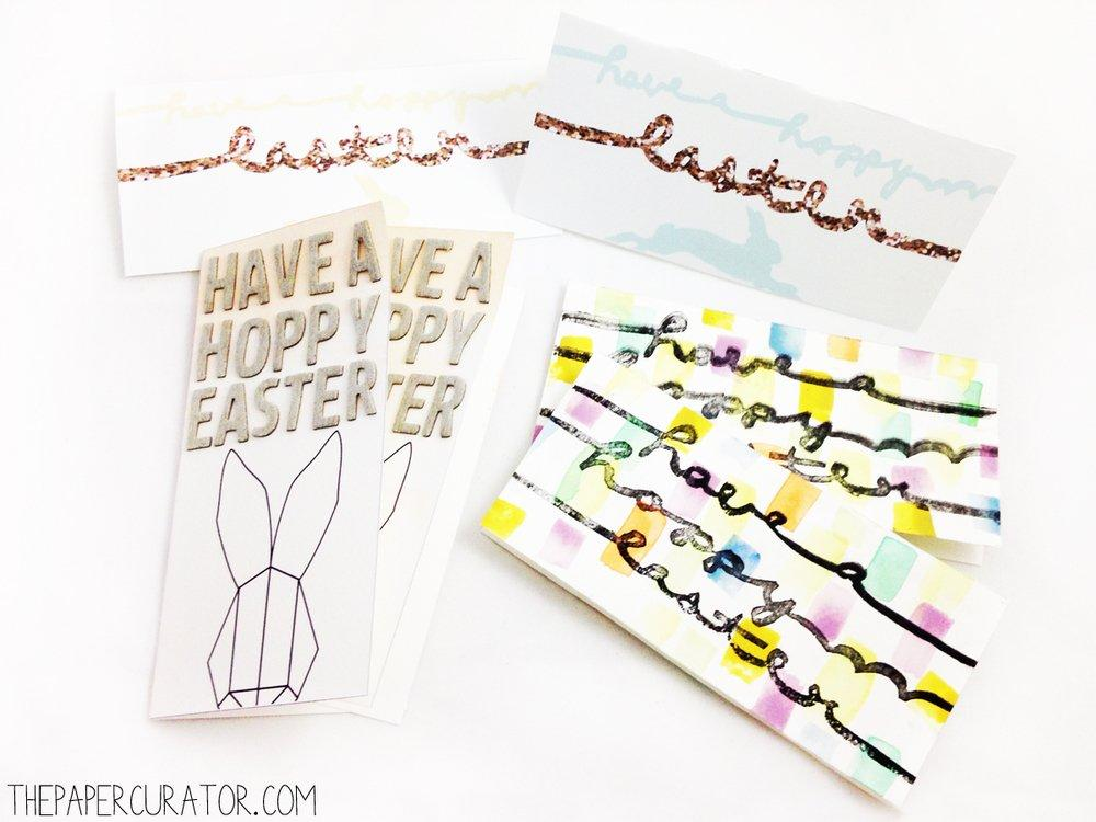 Fast Easter Card Made 3 Ways
