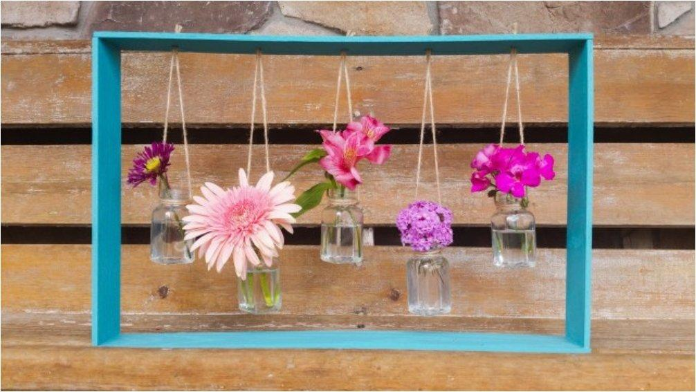 Framed Hanging Vases