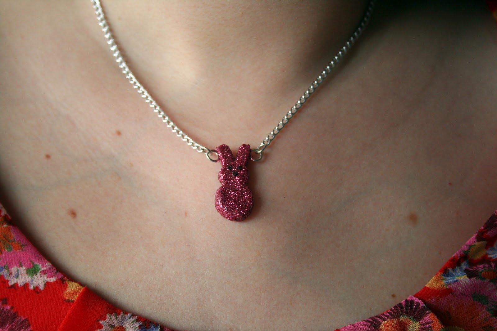 Glittery Peeps Necklace