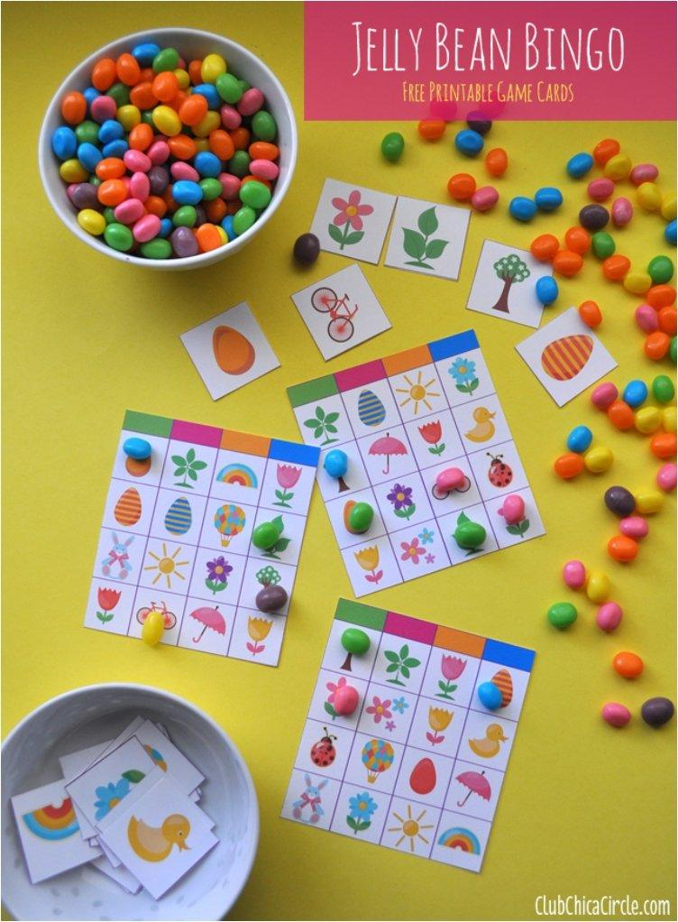Jelly Bean Bingo Cards