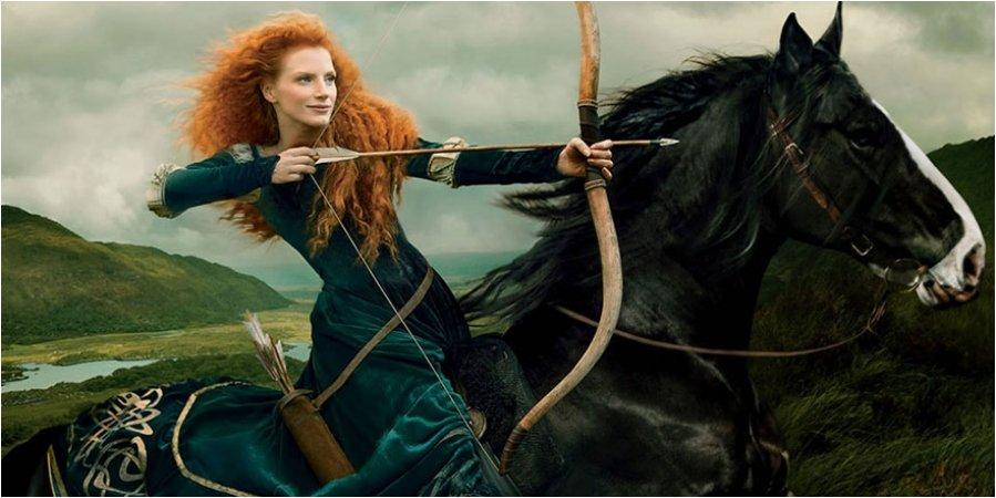 Jessica Chastain as Merida from Brave