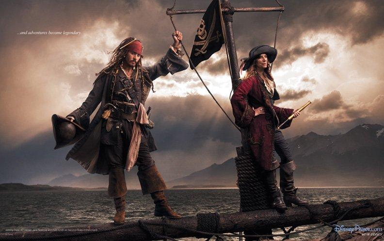 Johnny Depp as Jack Sparrow andan