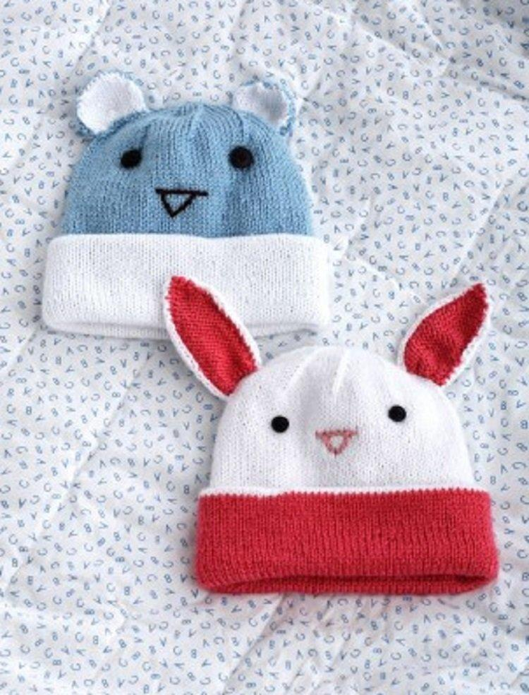 Free Knitting Pattern Hat With Ears : 21 Free Crochet And Knitting Patterns For Your Babys ...