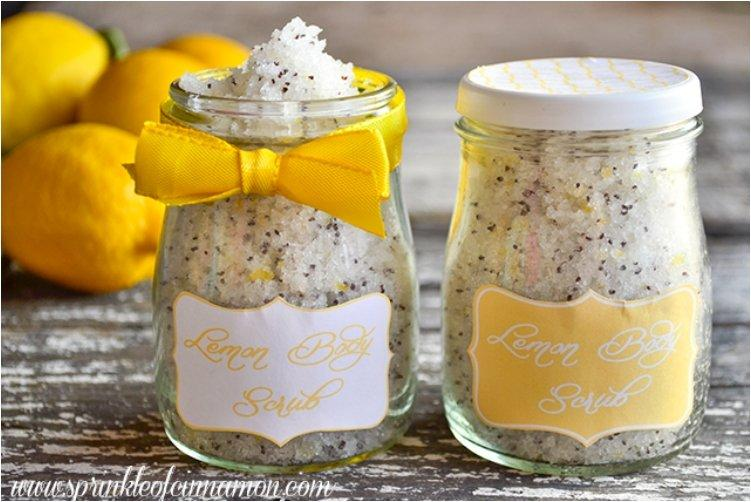 Lemon Poppy Sugar Scru