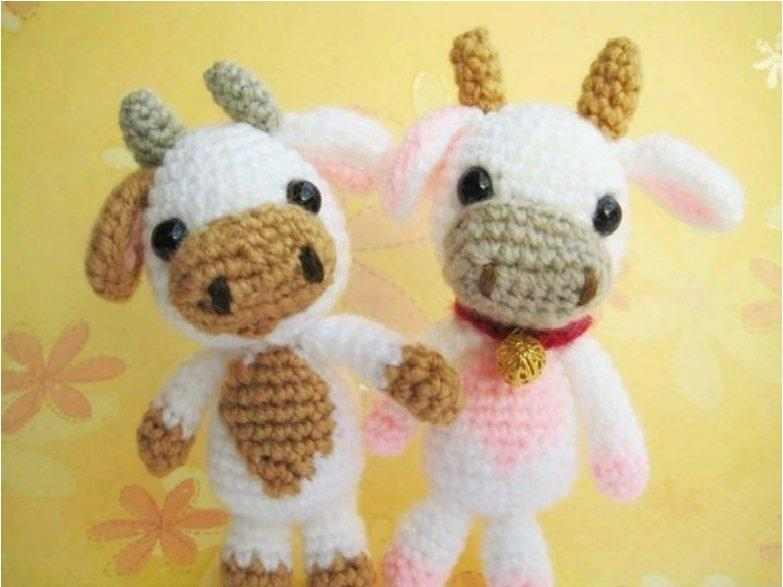 Lolly baby cow amigurumi