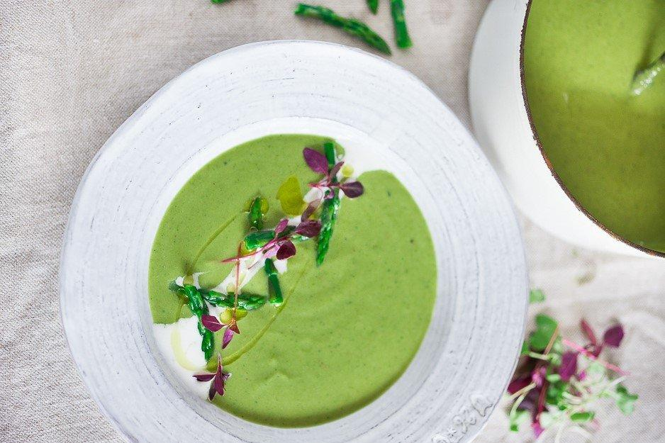 Luscious Asparagus Soup with Fennel and Tarragon