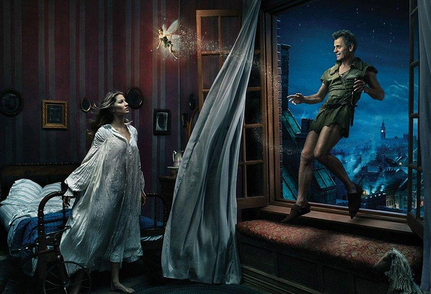 Mikhail Baryshnikov, Gisele Bundchen, and Tina Fey from Peter Pan