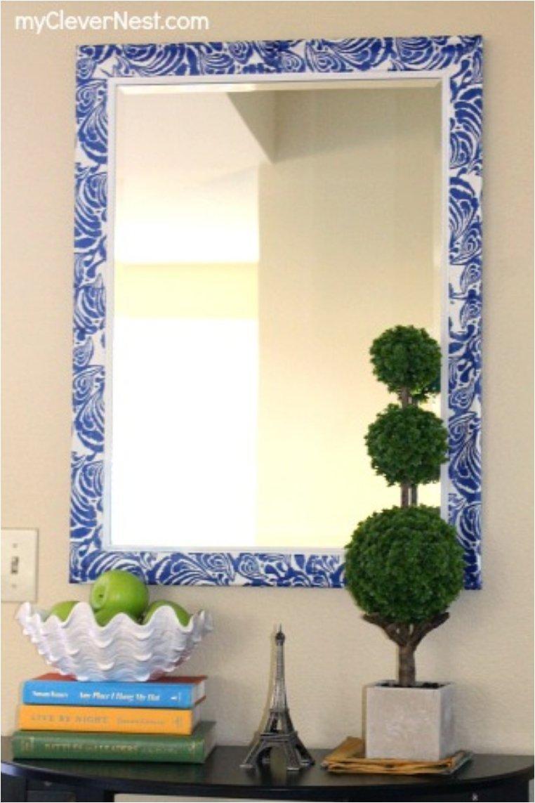 Mirror Makeover using Napkins