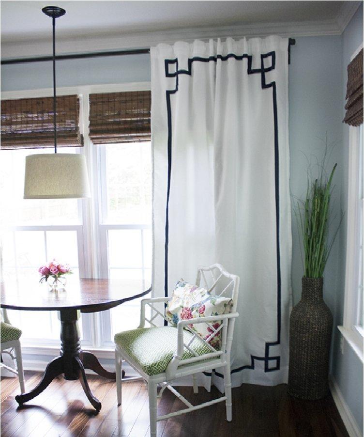 No-Sew Greek Key Curtain Panels
