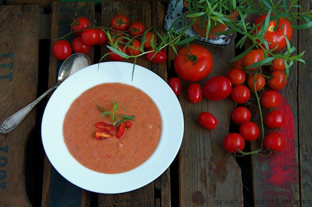 Raw Tomato Soup with French Tarragon
