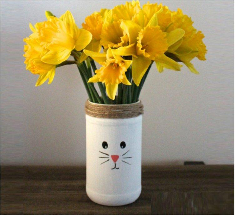 Recycled Easter Bunny Vases