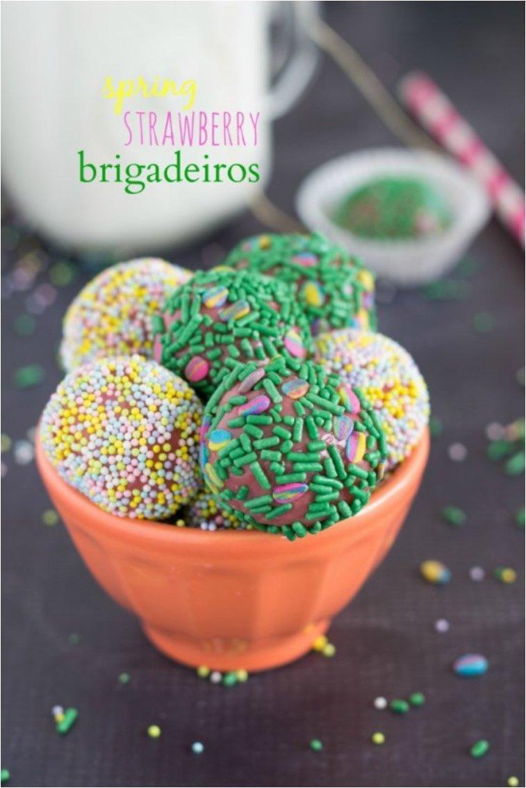 SPRING STRAWBERRY BRIGADEIROS