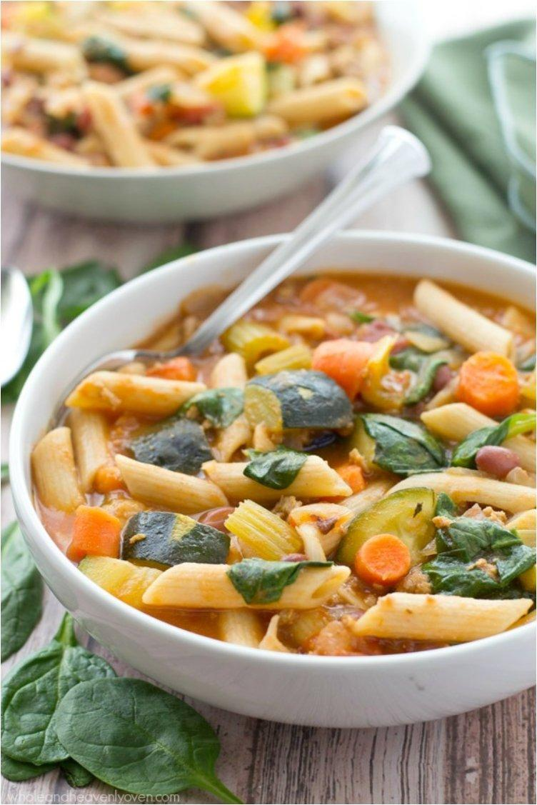 Springtime Vegetarian Minestrone Soup