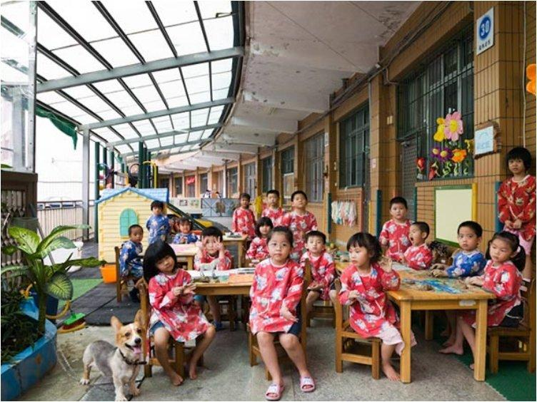 Taiwan, Ruei Fang Township, Kindergarten, Art
