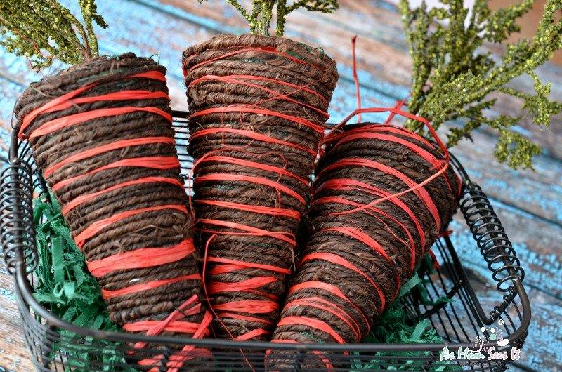 Twine Carrots For Easter