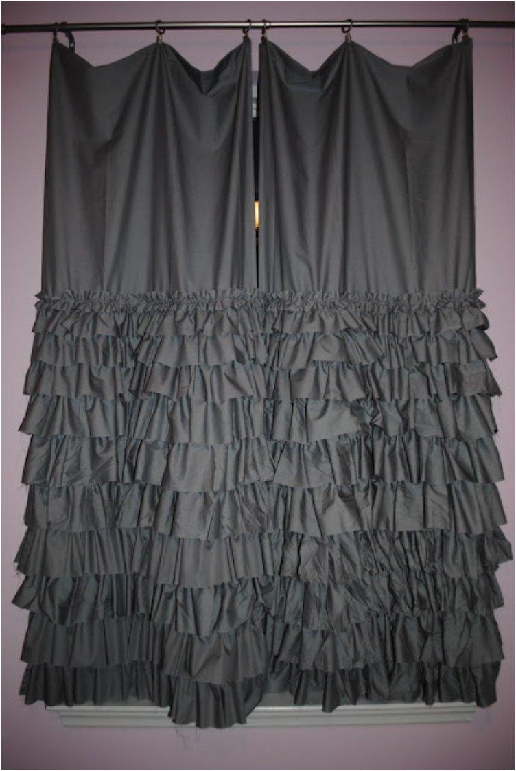 ayered ruffle curtain