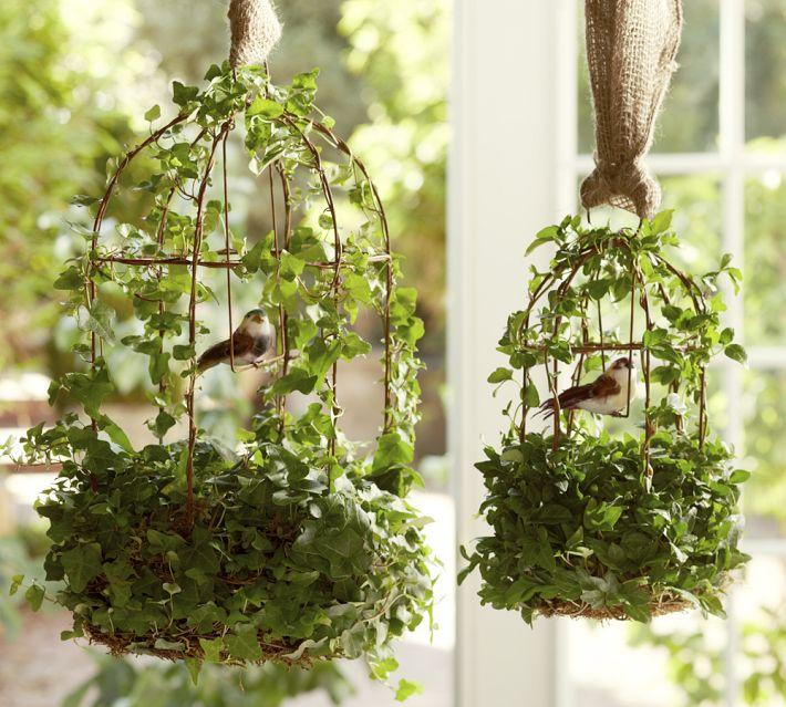 Give your home a chic decor by reusing your old bird cage in 25 ways - Decoration cage oiseau ...