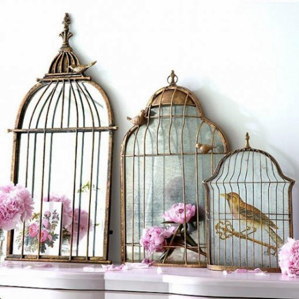 Wall Art Mirror Birds : Give your home a chic decor by reusing old bird cage