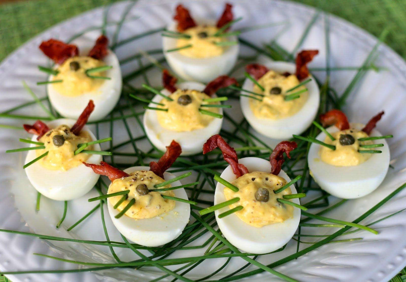 maple mustard deviled eggs