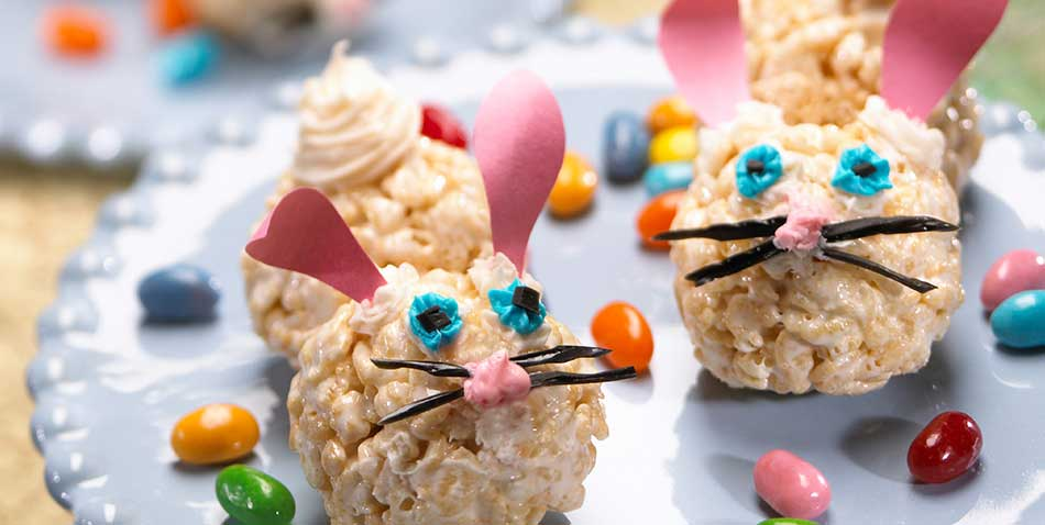 rice krispy bunnies
