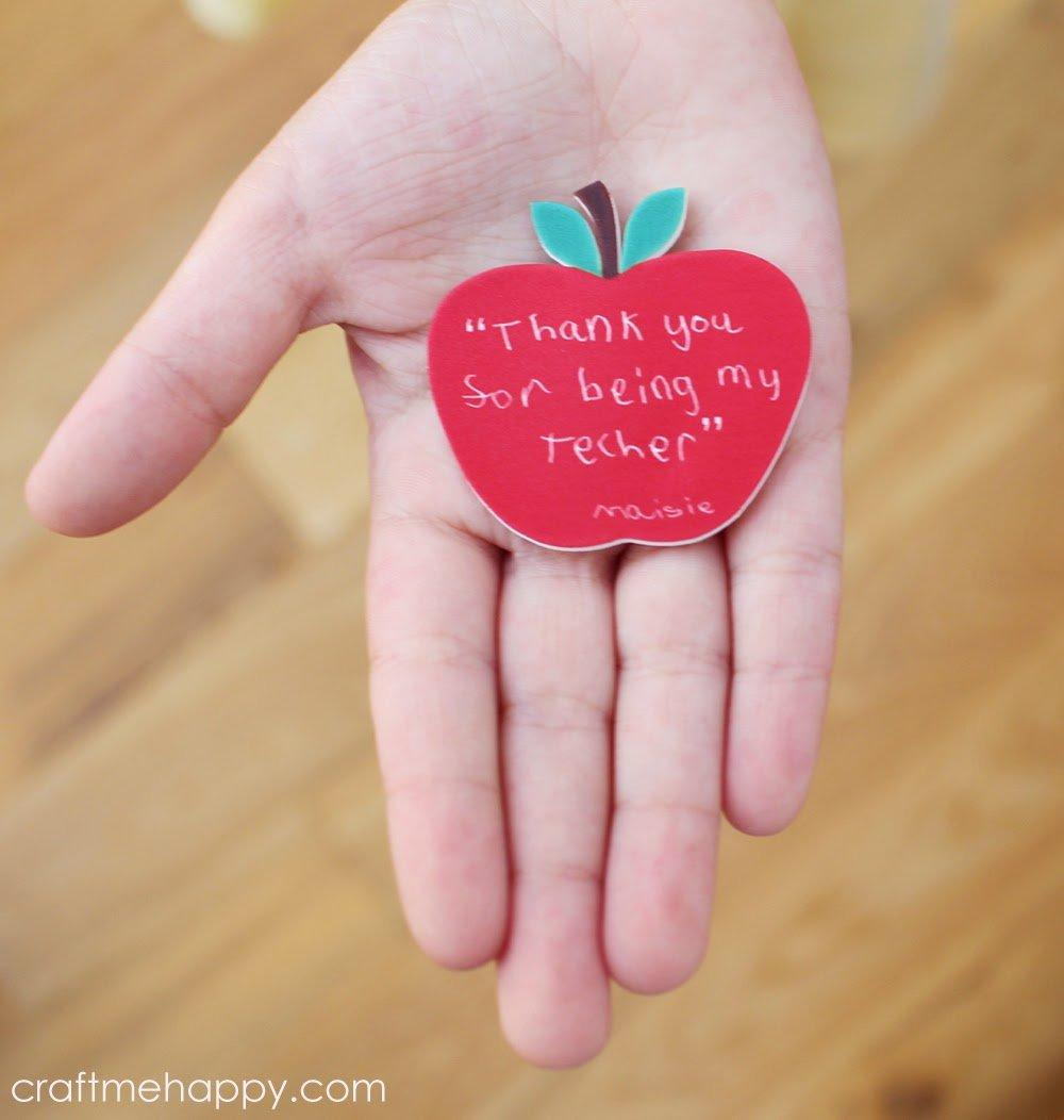 Apple for the teacher fridge magnet gift