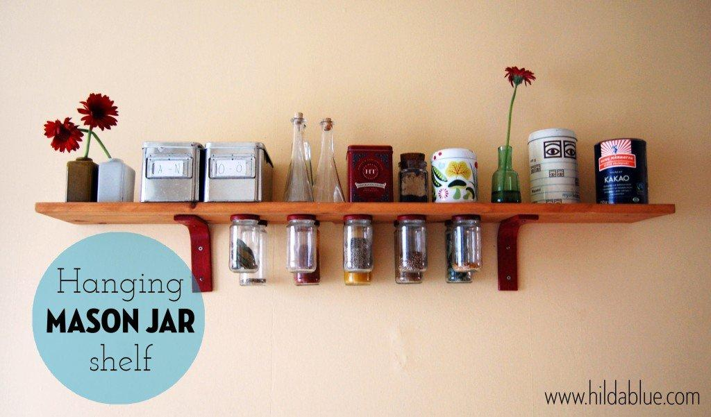 Hanging Glass Jar Shelves