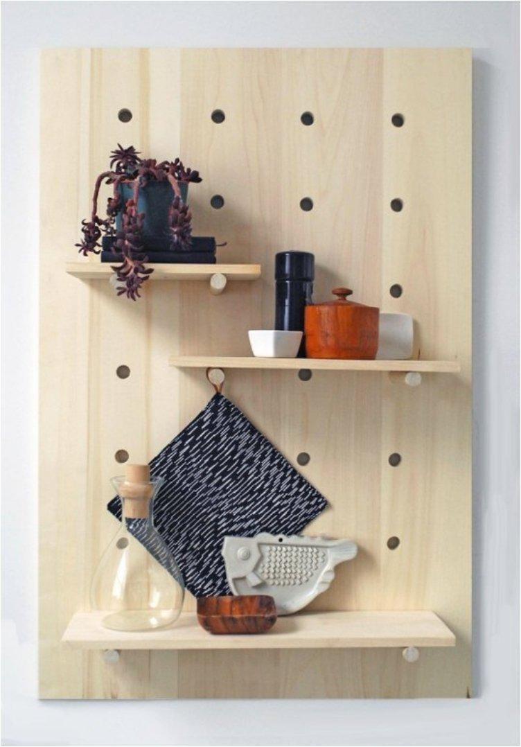 Pegboard Shelving System