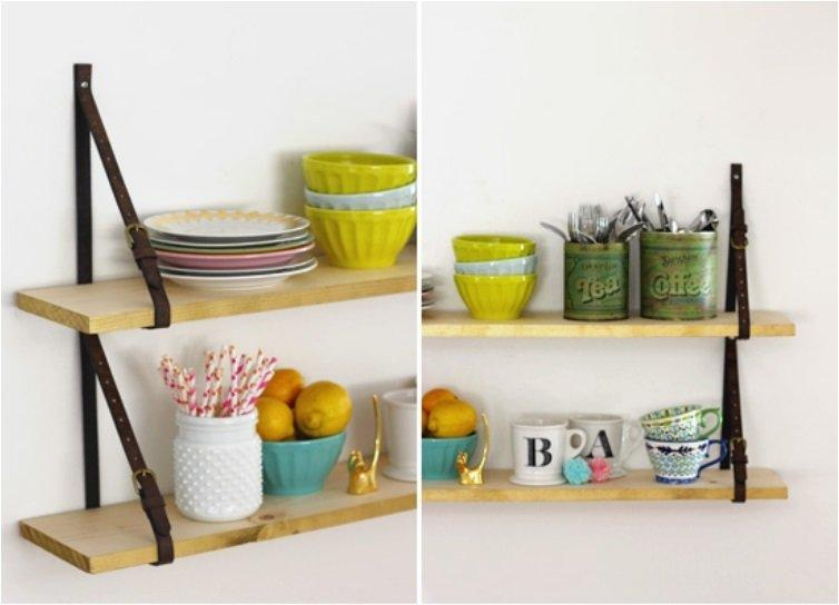 Shelves with Belt Straps