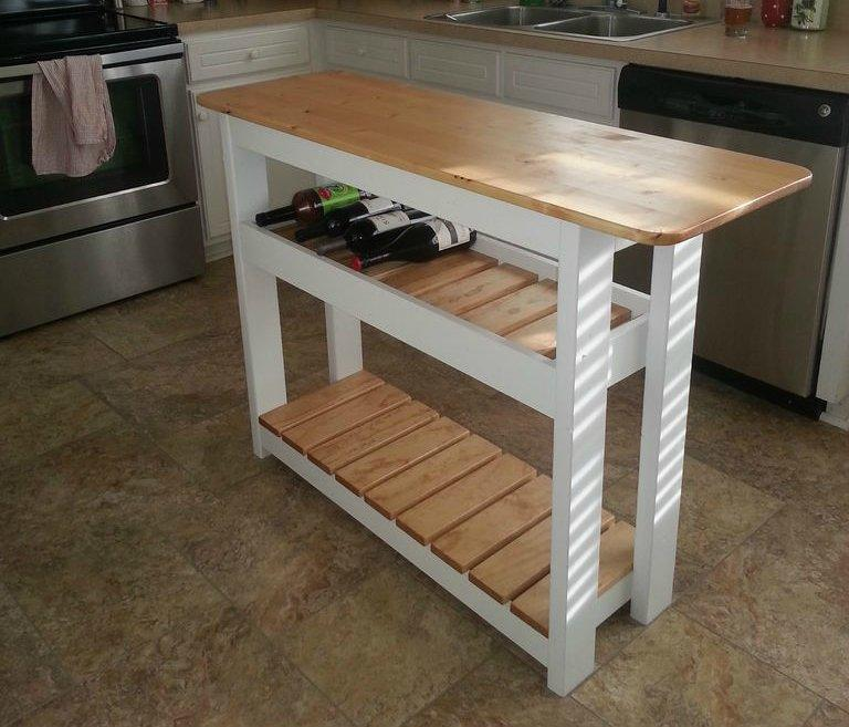 Build a Kitchen Island with Wine Rack