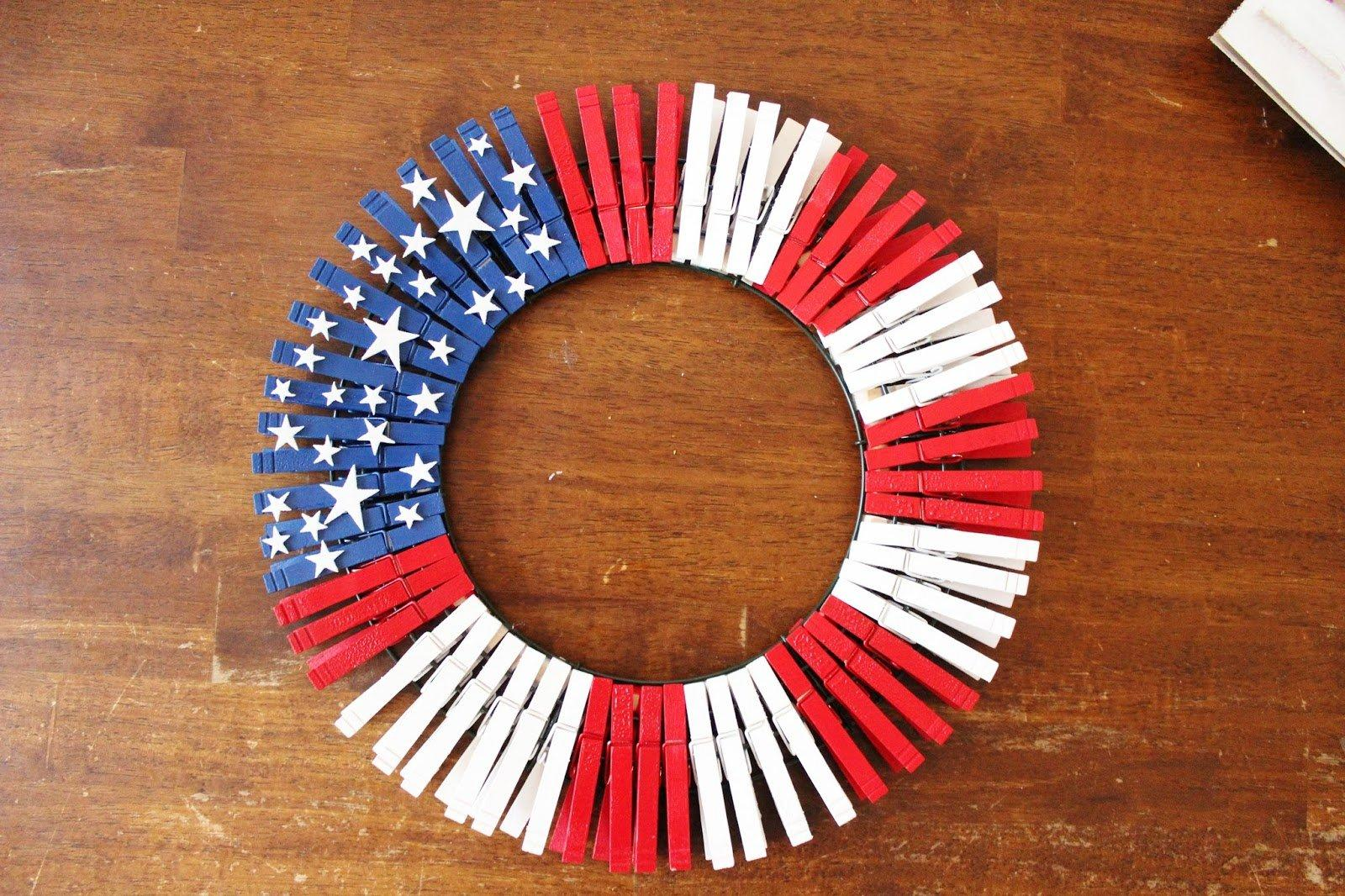 4th Of July Wreath Diy Easy