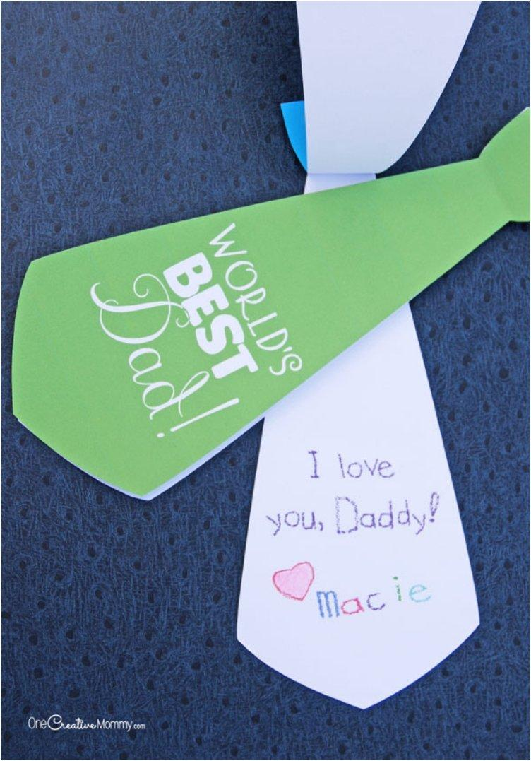 Cute Necktie Father s Day Card