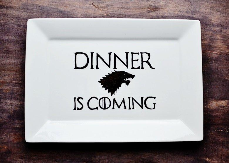DIY Game of Thrones Grilling Plate