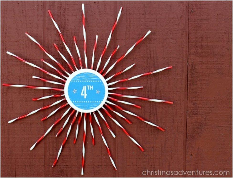Paper Straw Sunburst Craft