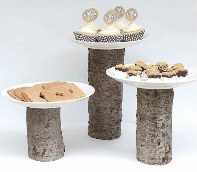 TREE STUMP CAKE STANDS