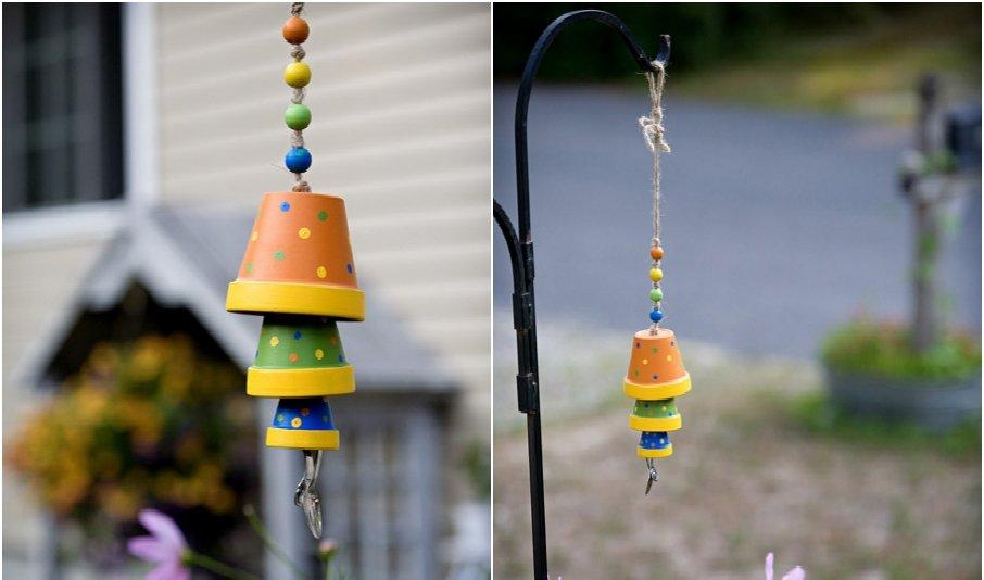 Terracotta Flower Pot Wind Chime
