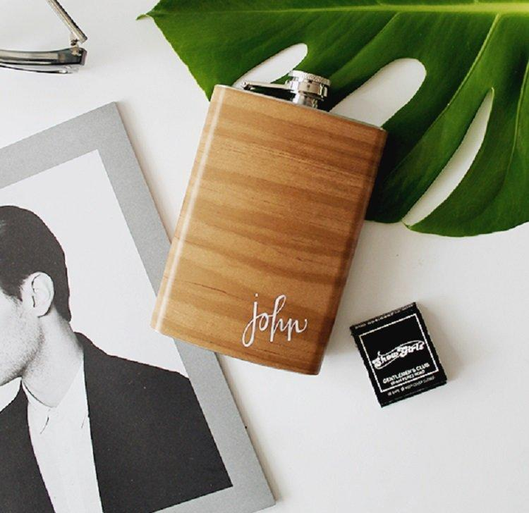 WOOD GRAIN FLASK