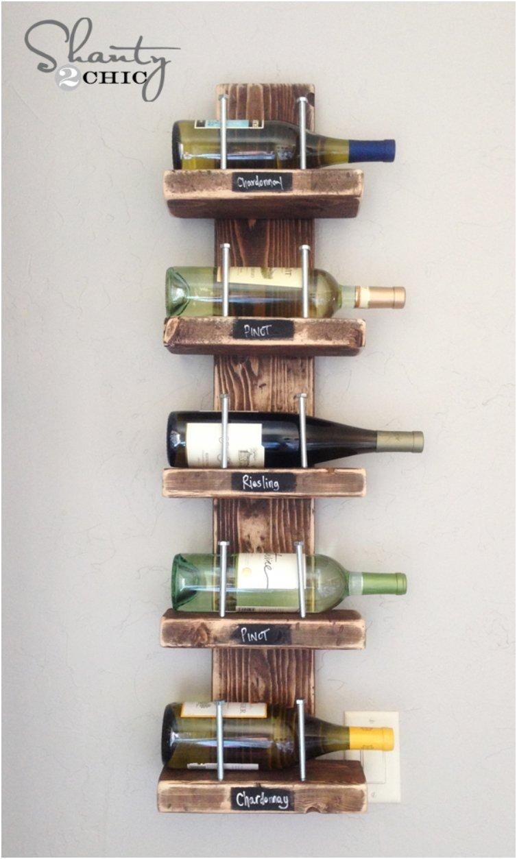 Wine Rack With Name Tags