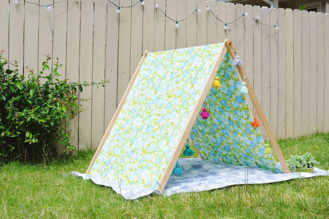 fold up A-frame tent