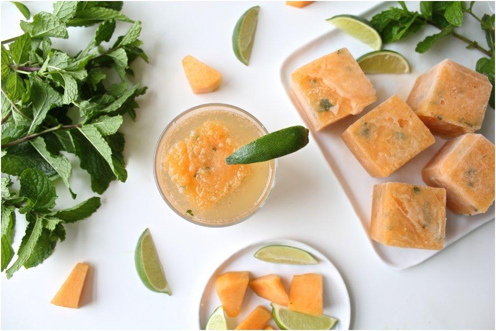 Cantaloupe Mint Gin and Tonic